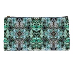 Green Black Gothic Pattern Pencil Cases by Costasonlineshop