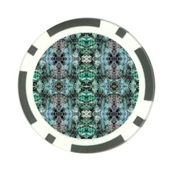 Green Black Gothic Pattern Poker Chip Card Guards (10 Pack)  by Costasonlineshop