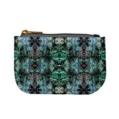 Green Black Gothic Pattern Mini Coin Purses by Costasonlineshop