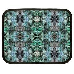 Green Black Gothic Pattern Netbook Case (xxl)