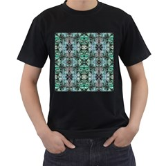 Green Black Gothic Pattern Men s T Shirt (black) by Costasonlineshop