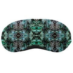 Green Black Gothic Pattern Sleeping Masks by Costasonlineshop