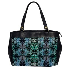 Green Black Gothic Pattern Office Handbags by Costasonlineshop