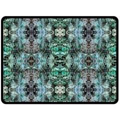 Green Black Gothic Pattern Fleece Blanket (large)