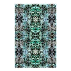 Green Black Gothic Pattern Shower Curtain 48  X 72  (small)  by Costasonlineshop