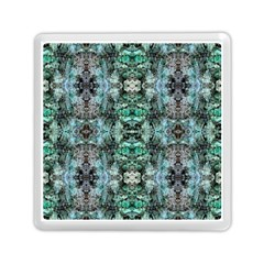 Green Black Gothic Pattern Memory Card Reader (square)  by Costasonlineshop