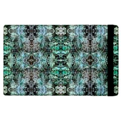 Green Black Gothic Pattern Apple Ipad 3/4 Flip Case by Costasonlineshop