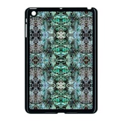 Green Black Gothic Pattern Apple iPad Mini Case (Black) by Costasonlineshop
