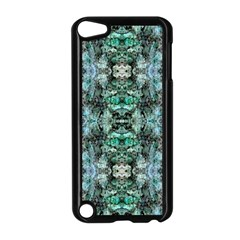 Green Black Gothic Pattern Apple Ipod Touch 5 Case (black) by Costasonlineshop
