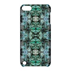 Green Black Gothic Pattern Apple Ipod Touch 5 Hardshell Case With Stand by Costasonlineshop