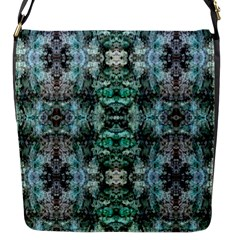 Green Black Gothic Pattern Flap Messenger Bag (s)
