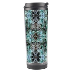 Green Black Gothic Pattern Travel Tumblers by Costasonlineshop
