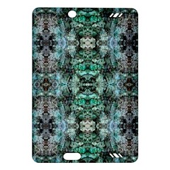 Green Black Gothic Pattern Kindle Fire HD (2013) Hardshell Case by Costasonlineshop