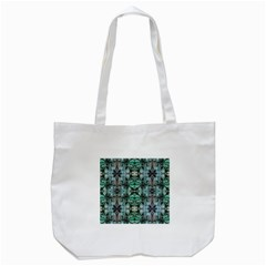 Green Black Gothic Pattern Tote Bag (white)