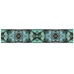 Green Black Gothic Pattern Flano Scarf (large)