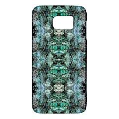 Green Black Gothic Pattern Galaxy S6 by Costasonlineshop