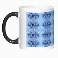 Pastel Blue Flower Pattern Morph Mugs by Costasonlineshop