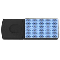 Pastel Blue Flower Pattern Usb Flash Drive Rectangular (4 Gb)  by Costasonlineshop