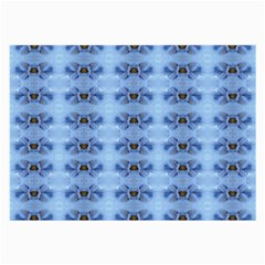 Pastel Blue Flower Pattern Large Glasses Cloth by Costasonlineshop
