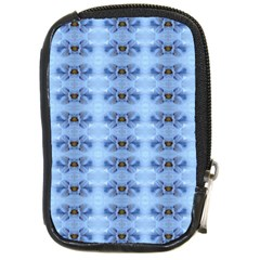 Pastel Blue Flower Pattern Compact Camera Cases by Costasonlineshop
