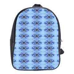 Pastel Blue Flower Pattern School Bags(large)  by Costasonlineshop