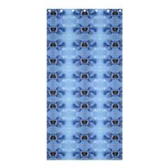 Pastel Blue Flower Pattern Shower Curtain 36  X 72  (stall)  by Costasonlineshop