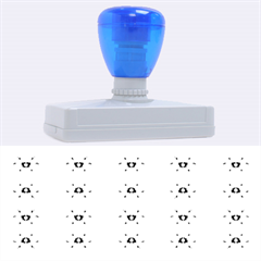 Pastel Blue Flower Pattern Rubber Address Stamps (xl) by Costasonlineshop
