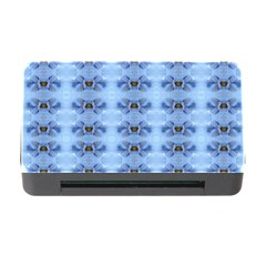 Pastel Blue Flower Pattern Memory Card Reader with CF by Costasonlineshop