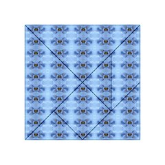 Pastel Blue Flower Pattern Acrylic Tangram Puzzle (4  X 4 ) by Costasonlineshop