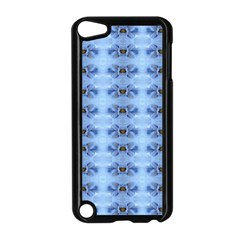 Pastel Blue Flower Pattern Apple Ipod Touch 5 Case (black) by Costasonlineshop