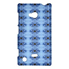 Pastel Blue Flower Pattern Nokia Lumia 720 by Costasonlineshop