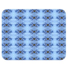 Pastel Blue Flower Pattern Double Sided Flano Blanket (medium)