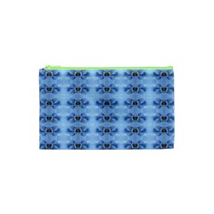 Pastel Blue Flower Pattern Cosmetic Bag (xs) by Costasonlineshop