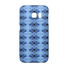 Pastel Blue Flower Pattern Galaxy S6 Edge