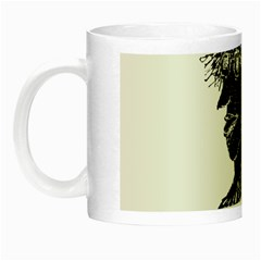 Cool Young Long Hair Man With Glasses Night Luminous Mugs by dflcprints