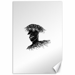 Cool Young Long Hair Man With Glasses Canvas 12  X 18   by dflcprints