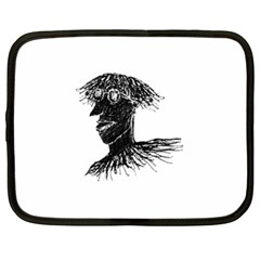 Cool Young Long Hair Man With Glasses Netbook Case (xl)  by dflcprints