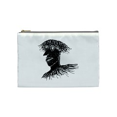 Cool Young Long Hair Man With Glasses Cosmetic Bag (medium)  by dflcprints