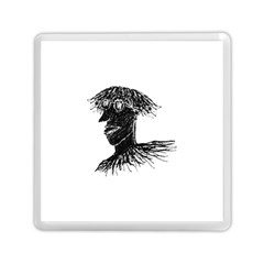 Cool Young Long Hair Man With Glasses Memory Card Reader (square)  by dflcprints