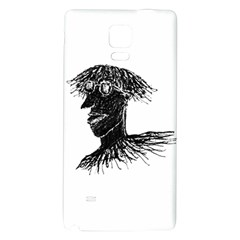 Cool Young Long Hair Man With Glasses Galaxy Note 4 Back Case by dflcprints