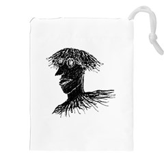 Cool Young Long Hair Man With Glasses Drawstring Pouches (xxl)
