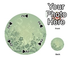 Wonderful Flowers In Soft Green Colors Playing Cards 54 (round)  by FantasyWorld7