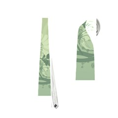 Wonderful Flowers In Soft Green Colors Neckties (two Side)
