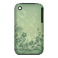 Wonderful Flowers In Soft Green Colors Apple Iphone 3g/3gs Hardshell Case (pc+silicone) by FantasyWorld7