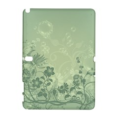 Wonderful Flowers In Soft Green Colors Samsung Galaxy Note 10 1 (p600) Hardshell Case by FantasyWorld7