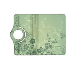 Wonderful Flowers In Soft Green Colors Kindle Fire Hd (2013) Flip 360 Case by FantasyWorld7