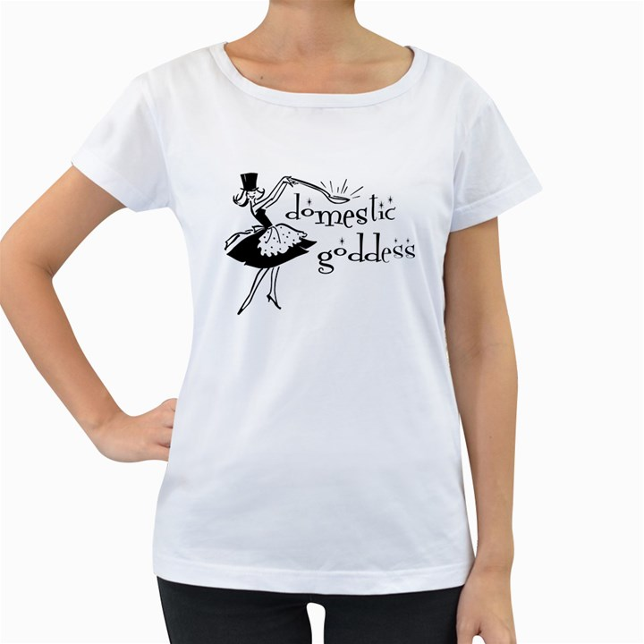 Domestic Goddess Women s Loose-Fit T-Shirt (White)