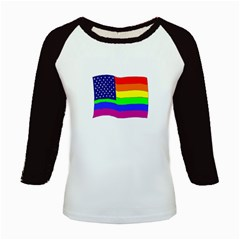 gay flag Kids Baseball Jersey by artbylink