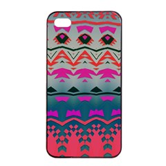 Waves And Other Shapes			apple Iphone 4/4s Seamless Case (black) by LalyLauraFLM