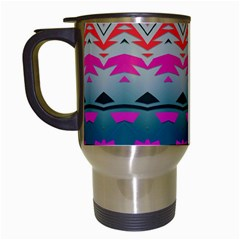 Waves And Other Shapes Travel Mug (white) by LalyLauraFLM